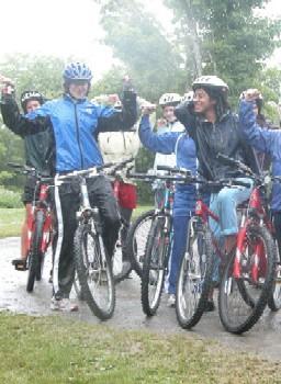 Faça chuva ou faça sol, pedalamos igual !